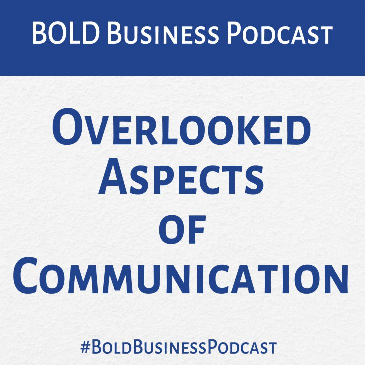 Overlooked Aspects of Communication (p242)